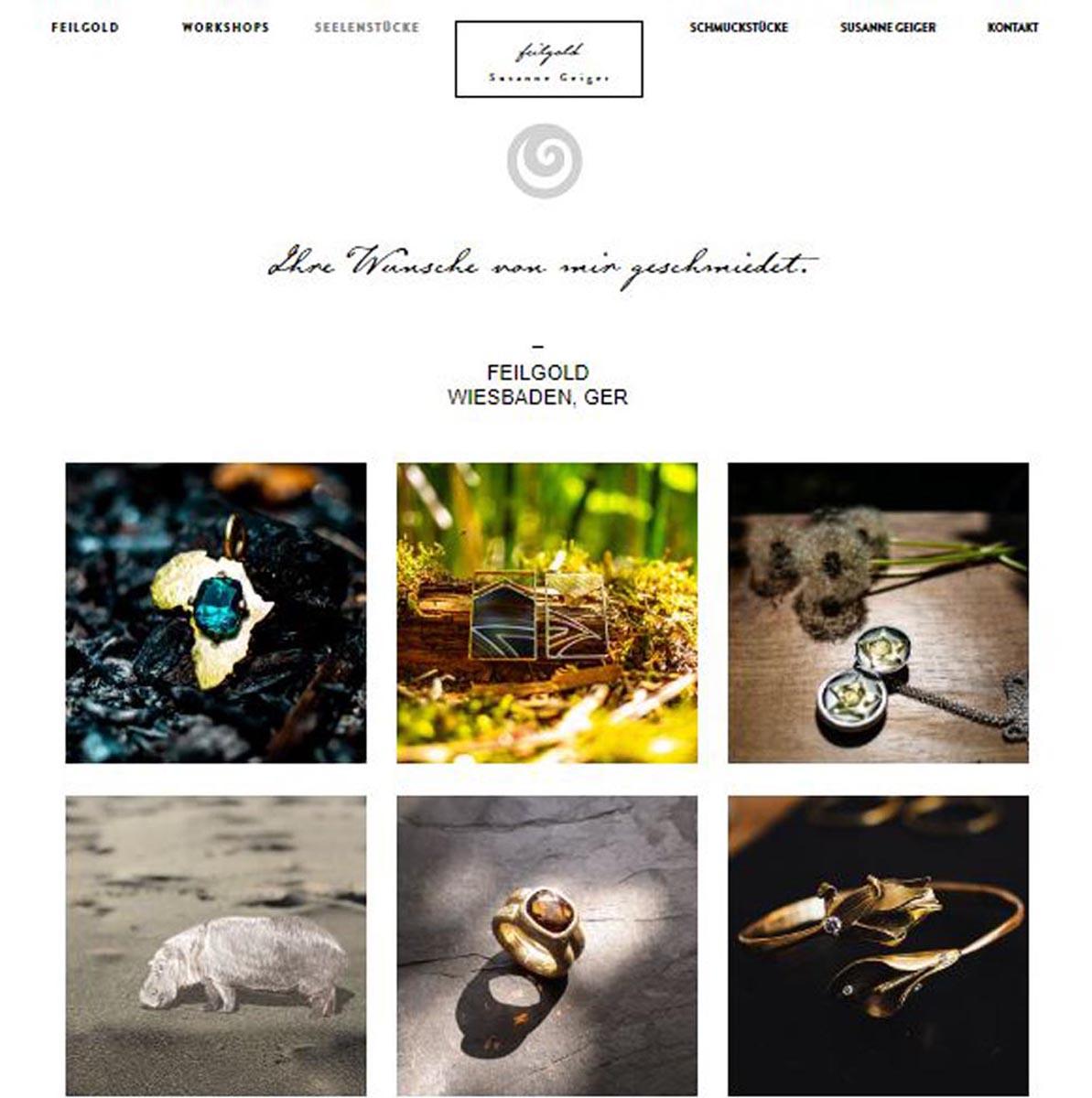 Feilgold Webseite 2