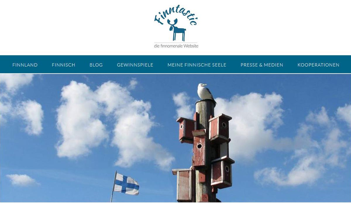 Finnland Kulturwebseite Finntastic - die finnomenale Website